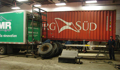 Body work to trucks, trailers, roofs, doors